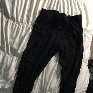 Black paper bag joggers medium